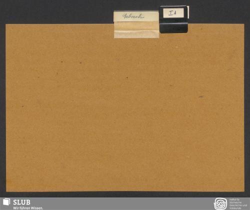 Vorschaubild von Gebrech [Deckblatt]