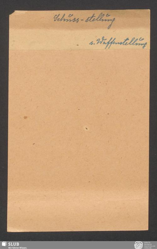 Vorschaubild von Schuss-stellung (?)