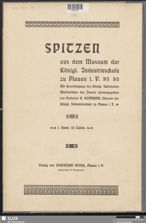 Vorschaubild von [Spitzen aus dem Museum der Königl. Industrieschule zu Plauen i. V.]