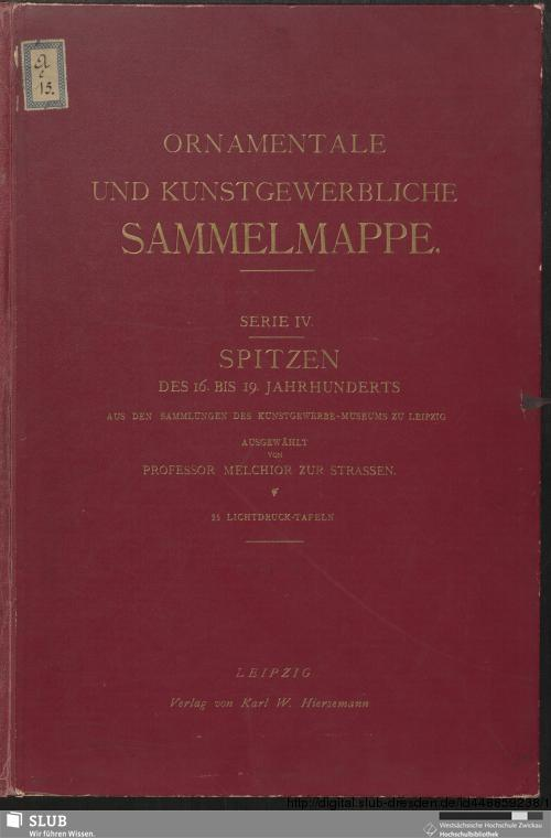 Vorschaubild von [Spitzen des 16. bis 19. Jahrhunderts]