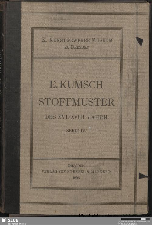 Vorschaubild von [Stoffmuster des XVI. - XVIII. Jahrhunderts]