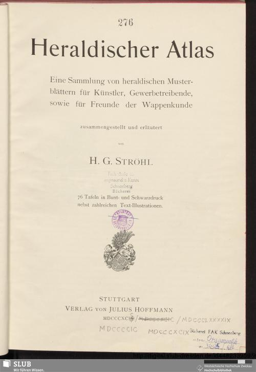 Vorschaubild von Heraldischer Atlas