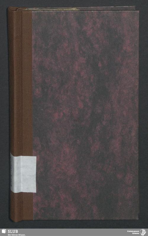 Vorschaubild von Wanderbuch für den Tuchmacher Friedrich August Sturm aus Oschatz - BId 103