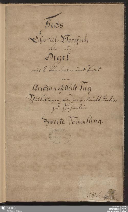 Vorschaubild von 6 Chorale Arrangements - Becker III.8.67