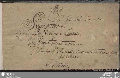 Vorschaubild von 6 Sonatas - Becker III.12.17