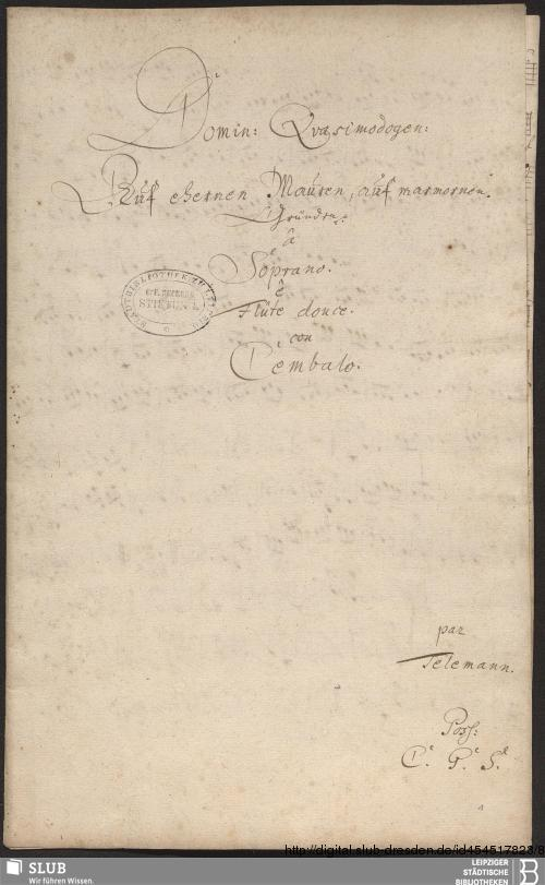 Vorschaubild von Auf ehernen Mauern - Becker III.2.179/41