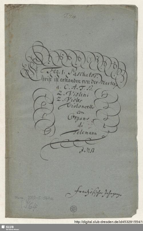 Vorschaubild von Christ ist erstanden von der Marter - Mus.2392-E-561a