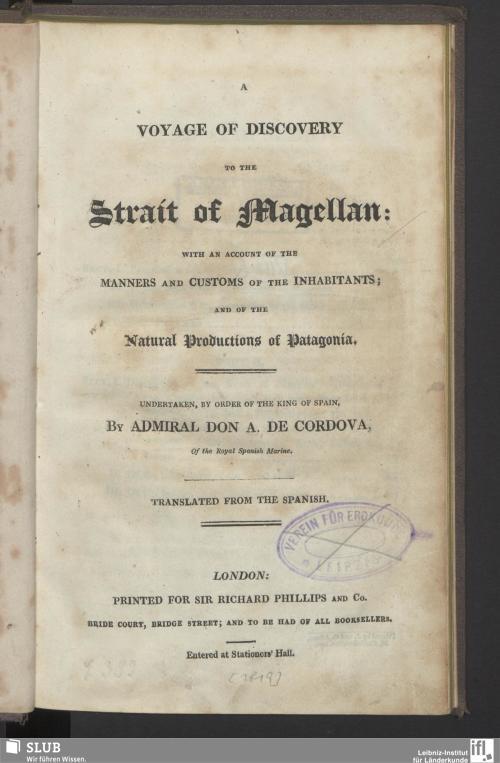 Vorschaubild von A Voyage Of Discovery To The Strait Of Magellan