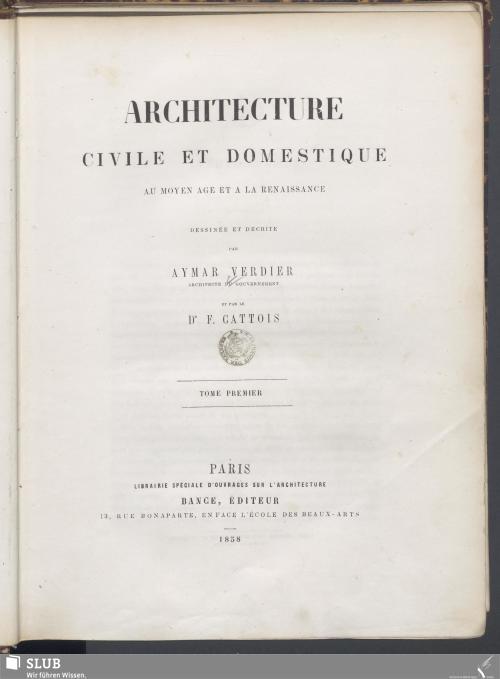 Vorschaubild von [Architecture Civile Et Domestique]
