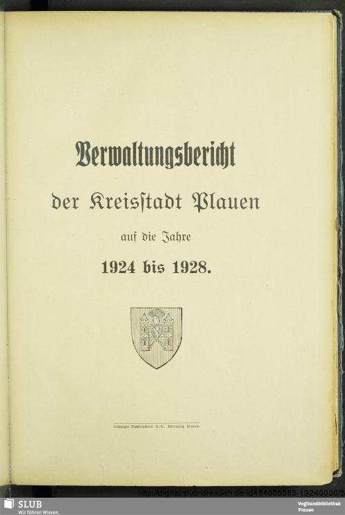 Vorschaubild von [Verwaltungsbericht der Kreisstadt Plauen]