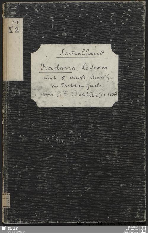 Vorschaubild von 5 Motets - Becker III.2.219