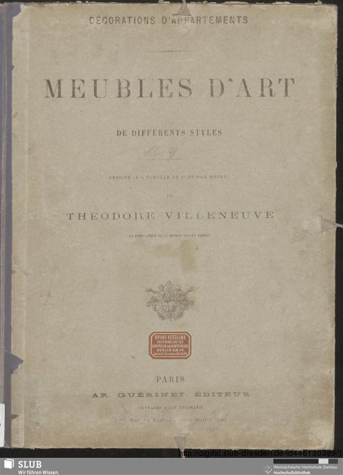 Vorschaubild von Meubles d'art