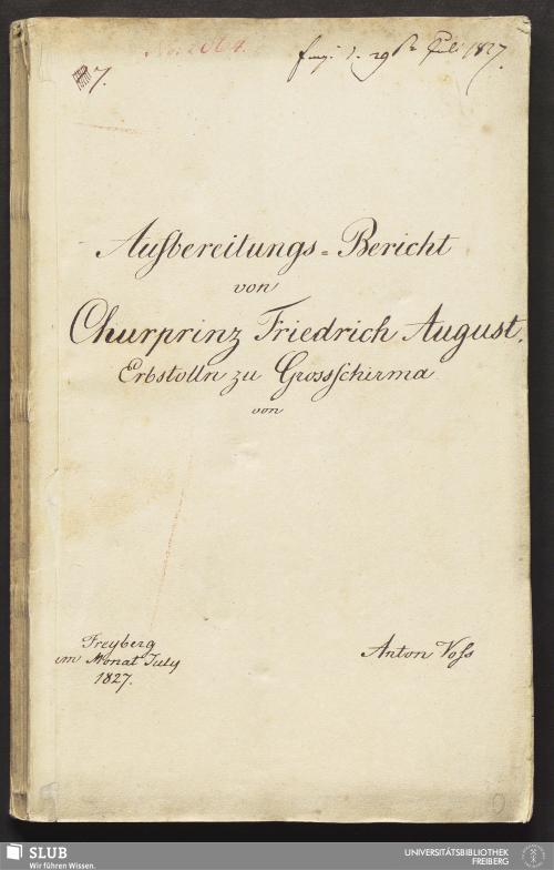 Vorschaubild von Aufbereitungs-Bericht von Churprinz Friedrich August Erbstolln zu Grossschirma - 18.6716 4.