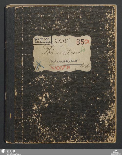 Vorschaubild von Bärenstein Steuerregister - A3.35