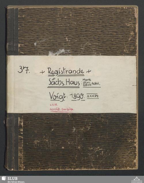 Vorschaubild von Reigstrande Sächs. Haus : Mark Sächs. Böhm Adel - A3.35