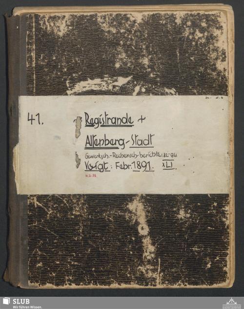 Vorschaubild von Registrande Altenberg - Stadt - A3.35