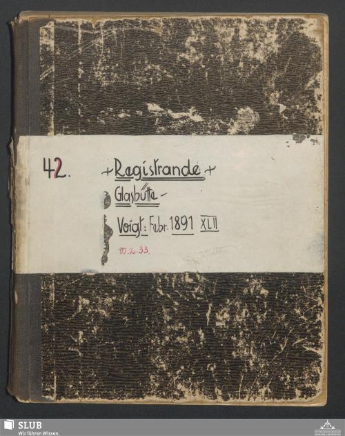 Vorschaubild von Registrande Glashütte - A3.35