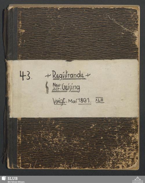 Vorschaubild von Registrande Neu- Alt-Geising - A3.35