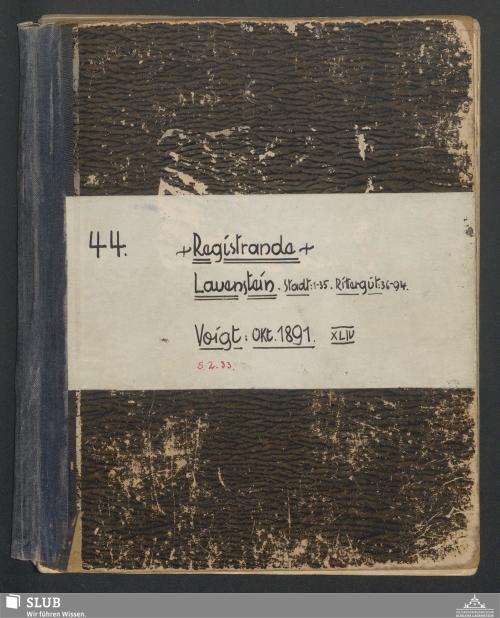 Vorschaubild von Registrande Lauenstein - A3.35