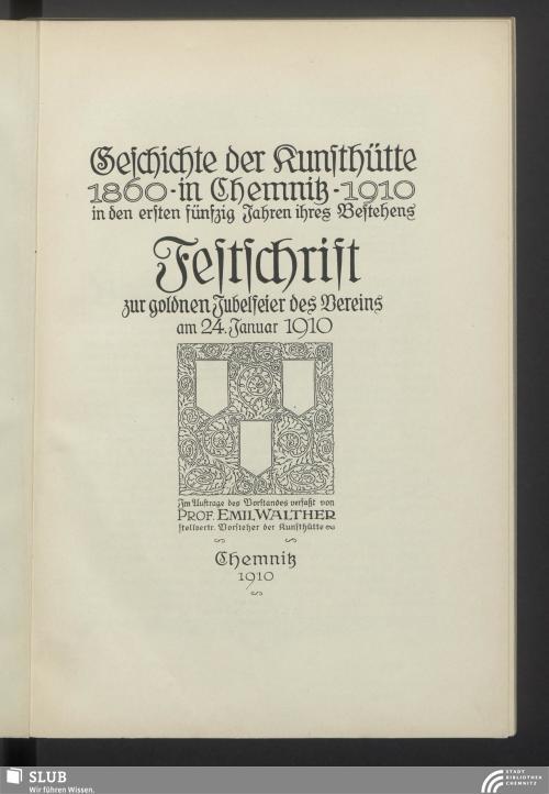 Vorschaubild von Geschichte der Kunsthütte in Chemnitz