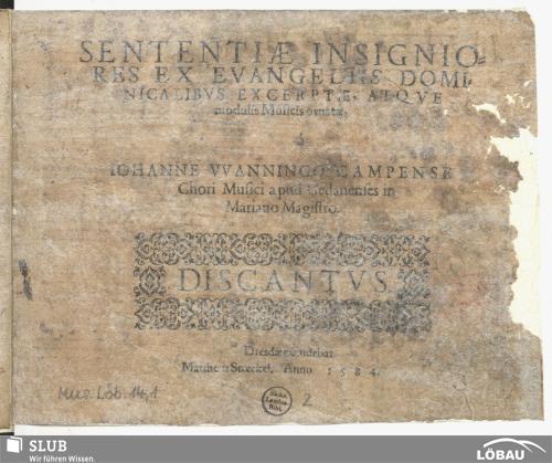 Vorschaubild von Sententiae insignio-res ex evangeliis domi-nicalibus excerptae