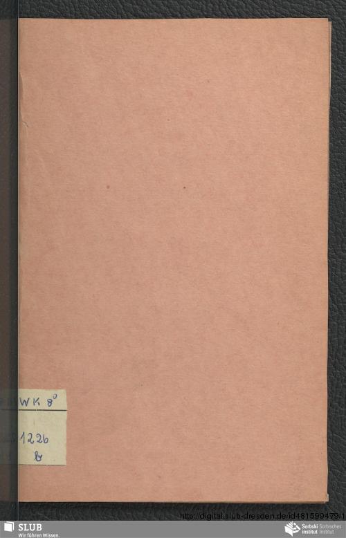 Vorschaubild von Pjaty Wjenz ßerbskich Spjewow spjewanych 5. Dżeṅ Oktobra 1849 w Budyschini