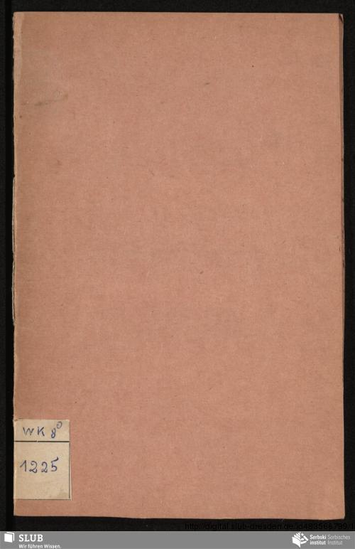 Vorschaubild von Żtwórté Wėncz serbskich Spėwow, spėwanėch 13. Dżeṅ Smażnika 1848 w Kuṗeli Marinej Studni pola Smėtżkecz