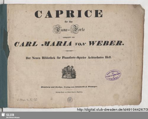 Vorschaubild von Caprice für das Piano-Forte