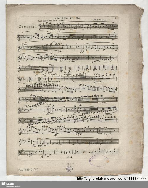 Vorschaubild von Concert-Stueck Larghetto affetuoso, Allegro passionato Marcia e Rondo giojoso für das Piano-Forté mit Begleitung des Orchesters