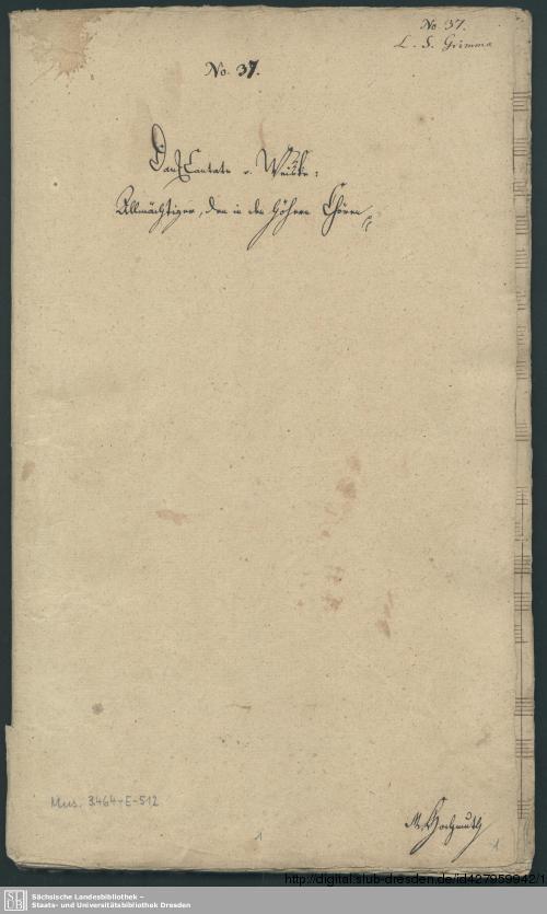 Vorschaubild von Allmächtiger den in vereinten Chören - Mus.3464-E-512