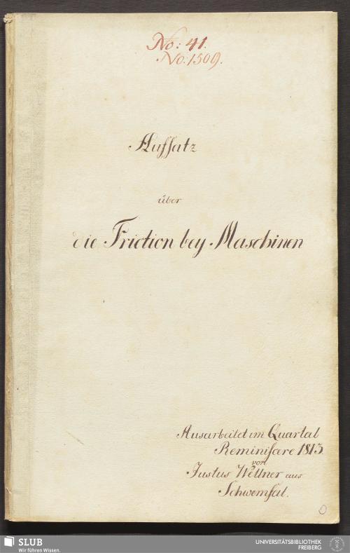 Vorschaubild von Aufsatz über die Friction bey Maschinen - 18.6183 4.