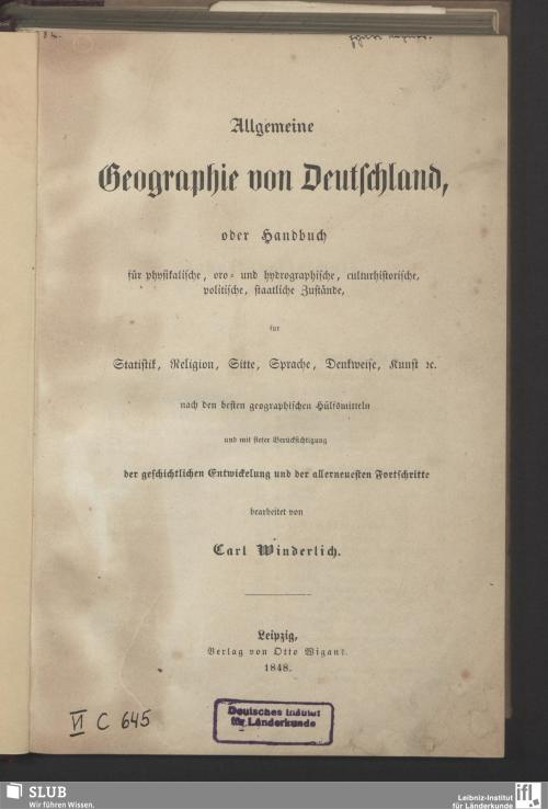 Vorschaubild von Allgemeine Geographie von Deutschland
