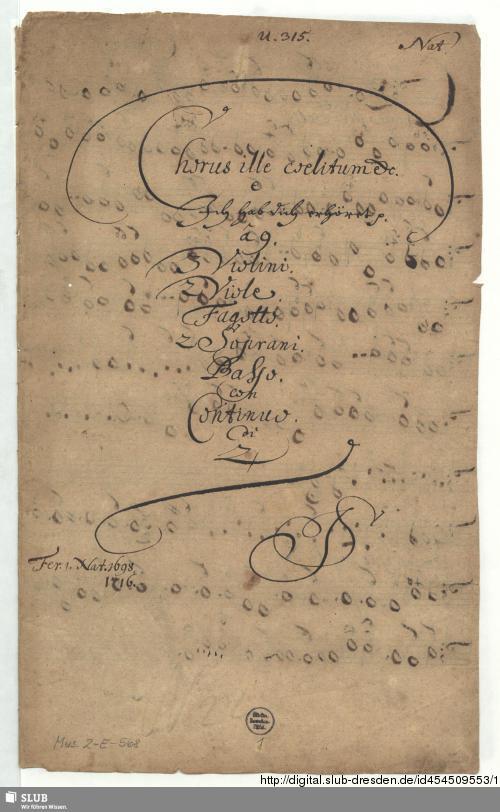 Vorschaubild von Chorus ille caelitum laudet Christum Dominum - Mus.2-E-568