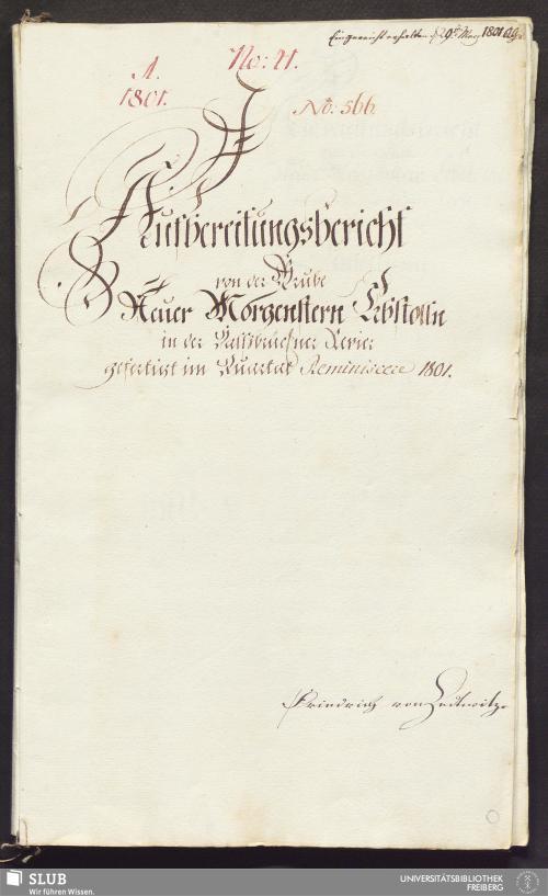 Vorschaubild von Aufbereitungsbericht von der Grube Neuer Morgenstern Erbstolln in der Halßbrückner Revier - 17.6459 4.