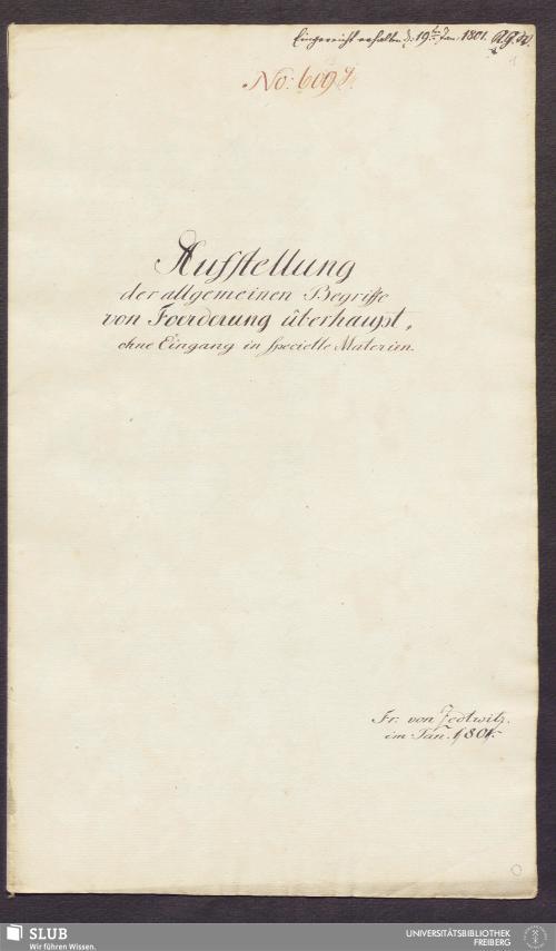 Vorschaubild von Aufstellung der allgemeinen Begriffe von Foerderung überhaupt, ohne Eingang in specielle Materien - 17.6502 4.