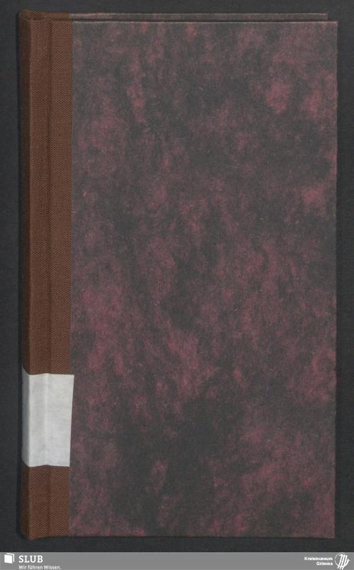 Vorschaubild von Wanderbuch für den Müllerburschen Carl Heinrich Zimmermann aus Ringethal - BId 102