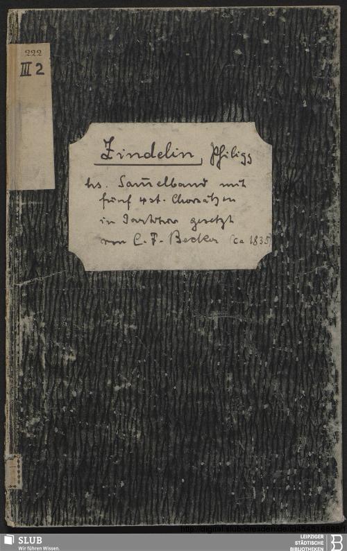 Vorschaubild von 5 Antiphonies - Becker III.2.222