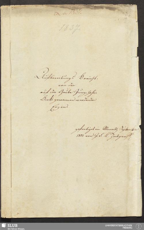 Vorschaubild von Aufbereitungs Bericht, von den auf der Grube Jung-hohe-Birke gewonnen werdenden Erzen - 18.6502 4.