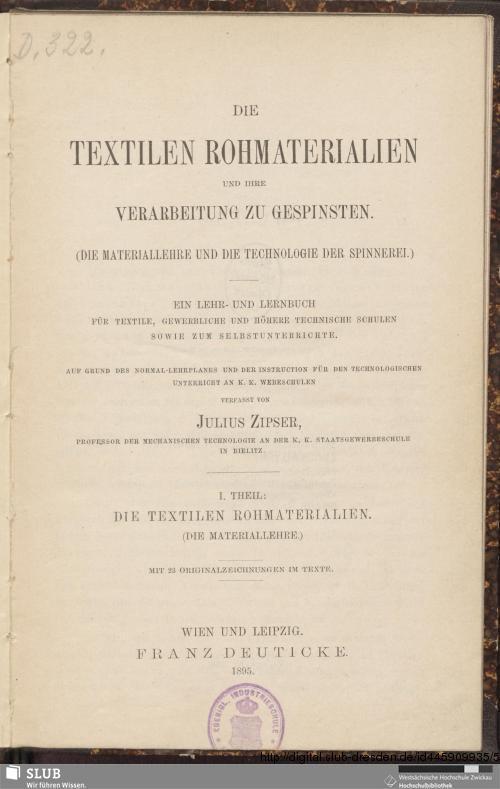 Vorschaubild von Die textilen Rohmaterialien