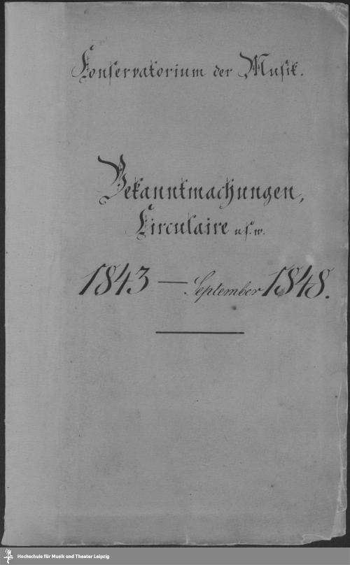 Vorschaubild von Bekanntmachungen, Circulaire u.s.w.