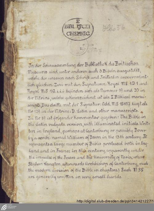 Vorschaubild von Biblia Latina