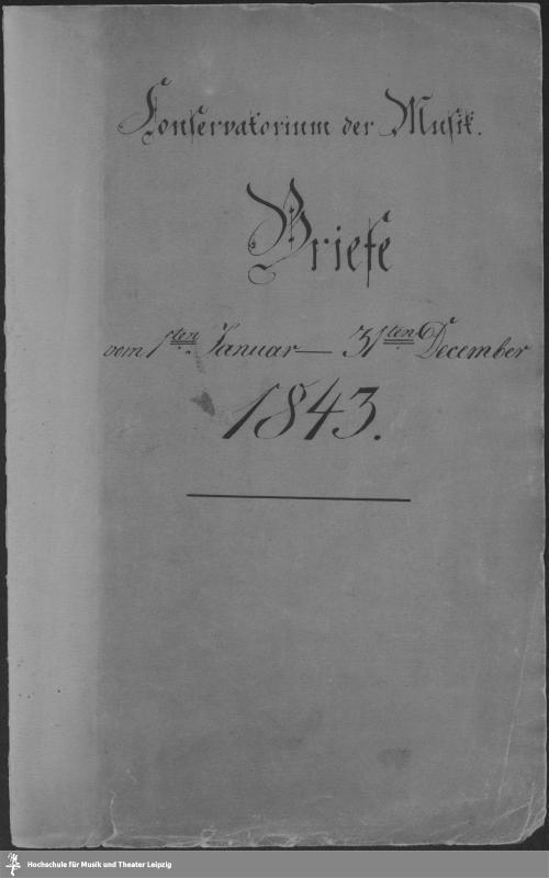 Vorschaubild von Vom 1sten Januar - 31ten December 1843.
