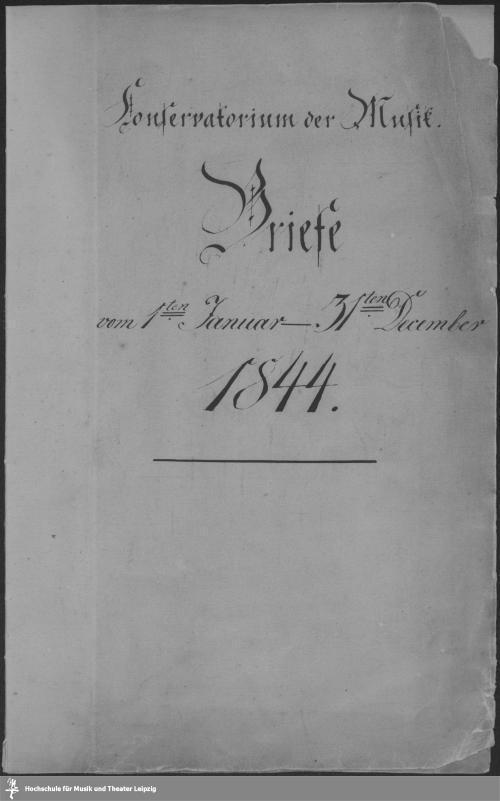 Vorschaubild von Vom 1sten Januar - 31ten December 1844.
