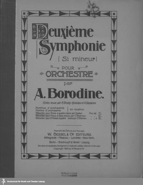 Vorschaubild von Deuxième symphonie (si mineur) pour orchestre
