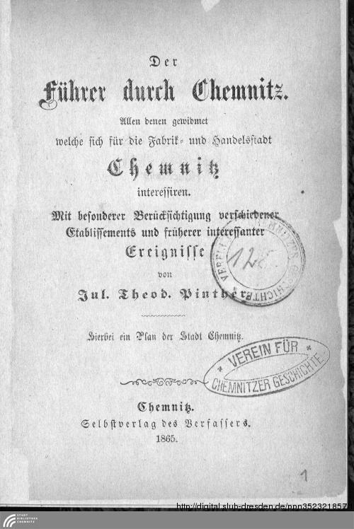 Vorschaubild von Der Führer durch Chemnitz