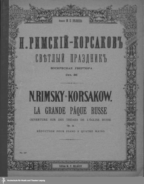 Vorschaubild von Le grande pâque russe