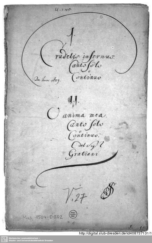 Vorschaubild von 2 Motets - Mus.1504-E-502
