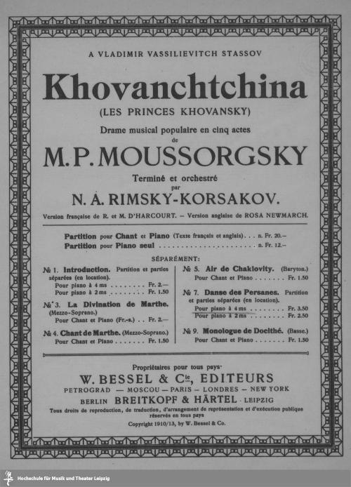 Vorschaubild von Khovanchtchina