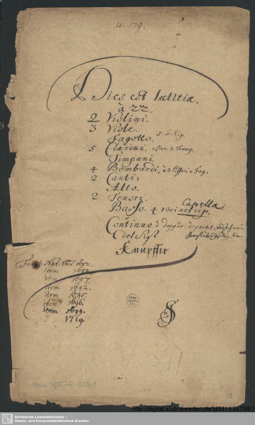 Vorschaubild von 2 Sacred concerts - Mus.1825-E-503 - Mus.1825-E-503a