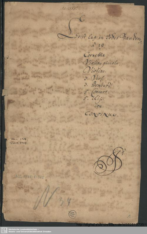 Vorschaubild von Christ lag in Todesbanden - Mus.1825-E-525
